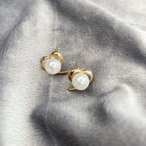 🟤LOVE🟤 Gold Earrings With Pearl